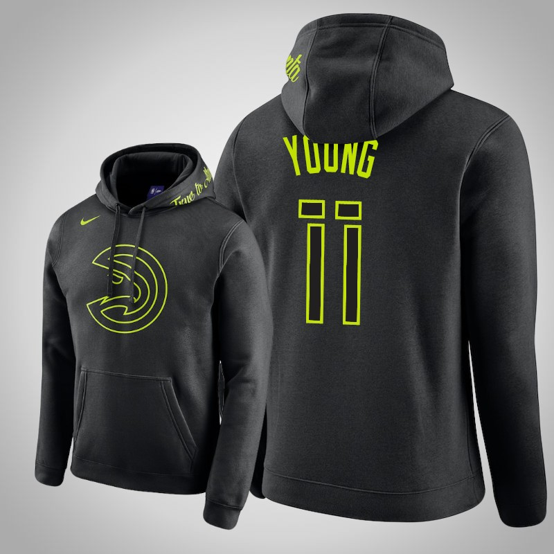 felpa atlanta Hawks 2019-2020 Trae Young club nero uomo