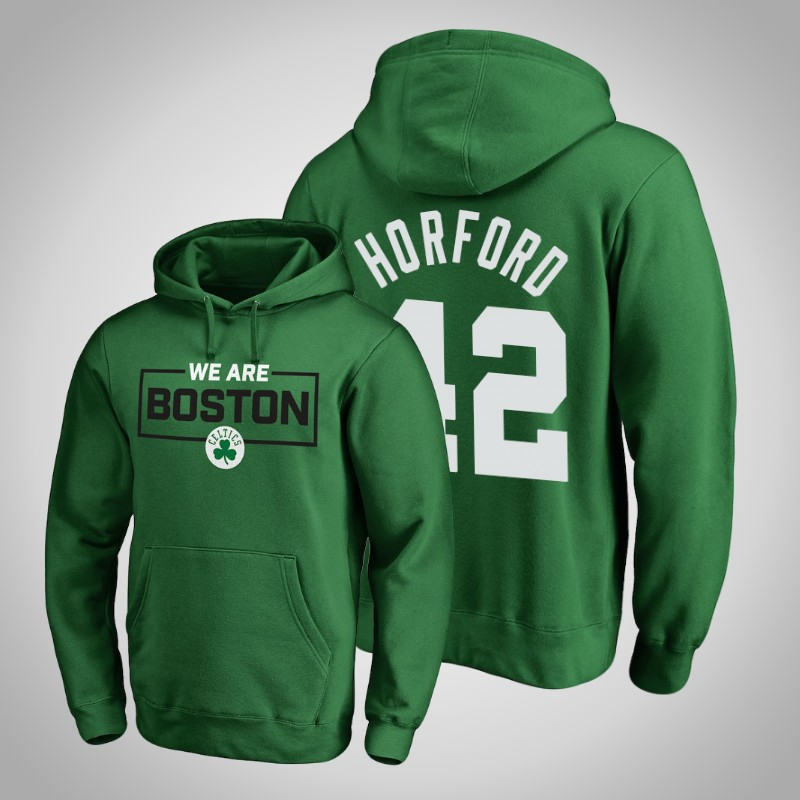 felpa boston celtics 2018-19 al Horford 42 Iconic verde uomo