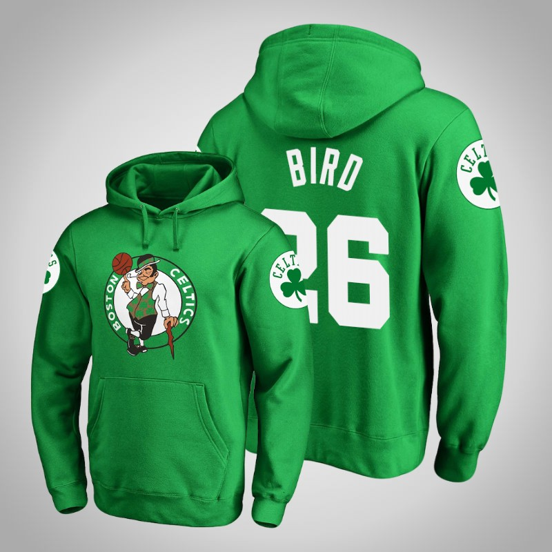 felpa boston celtics 2019-2020 Jabari bird 26 Logo principale Kelly verde uomo