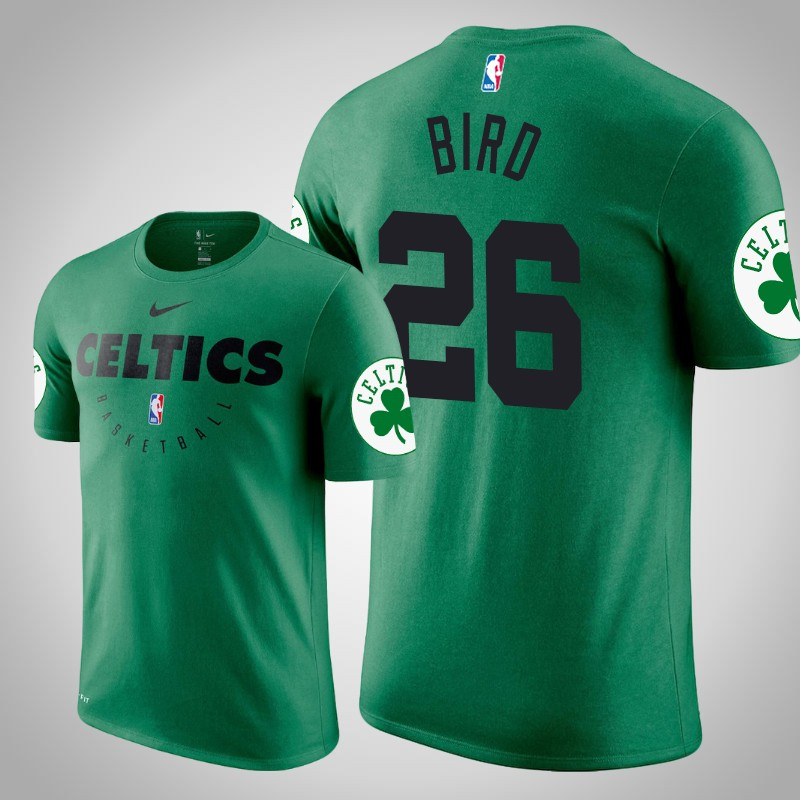 maglietta boston celtics 2019-20 Jabari bird 26 Legenda pratica Kelly verde uomo