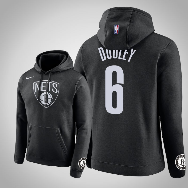 felpa brooklyn Nets 2018-2019 Jared Dudley 6 club nero uomo