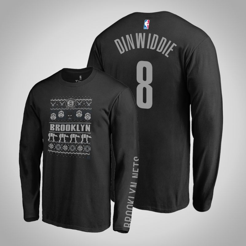 maglietta brooklyn Nets Spencer Dinwiddie 8 Guerre stellari nero uomo