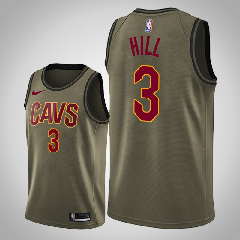 Maglie cleveland cavaliers 2019-20 George Hill camo oliva uomo