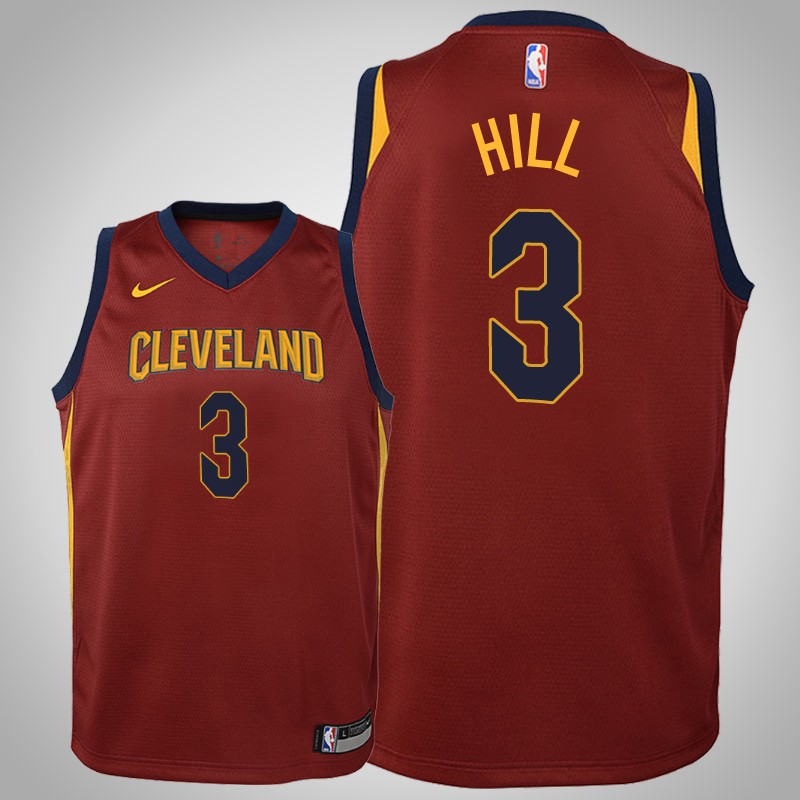 maglia cleveland cavaliers 2018-2019 George Hill 3 Icona Maroon bambino