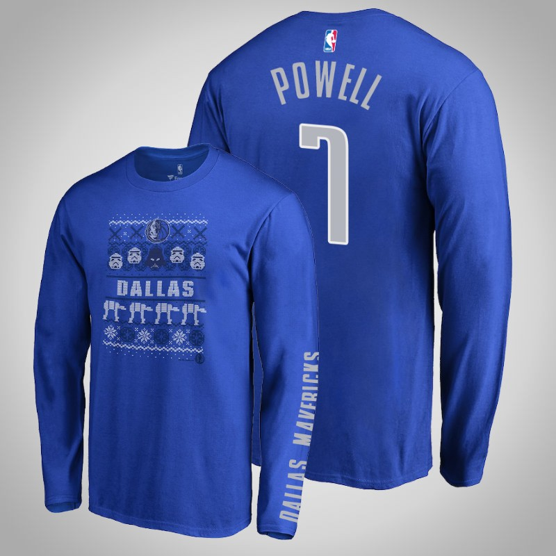 maglietta Dallas Mavericks Dwight Powell 7 Guerre stellari reale uomo