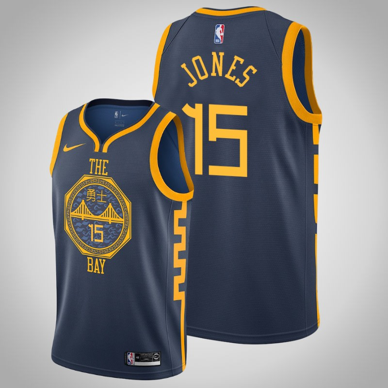 Maglie Golden State Warriors 2018-19 Damian Jones 15 città Marina Militare uomo