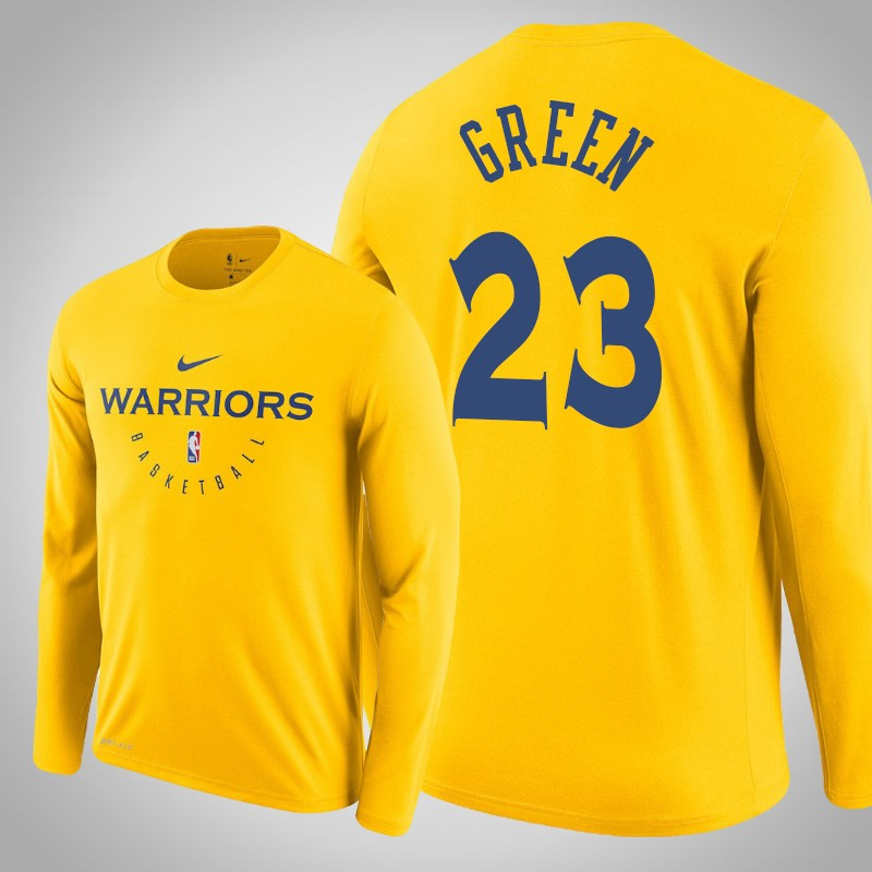 maglietta Golden State Warriors 2018-19 Draymond Green 23 Oro uomo
