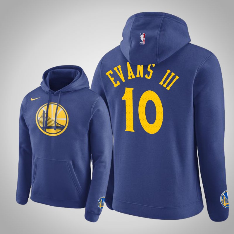 felpa Golden State Warriors 2019-2020 Jacob Evans III 10 club blu uomo