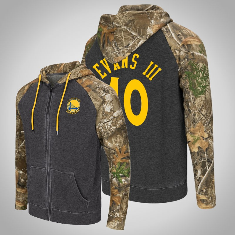 felpa Golden State Warriors Jacob Evans III 10 Realtree camo camuffare uomo