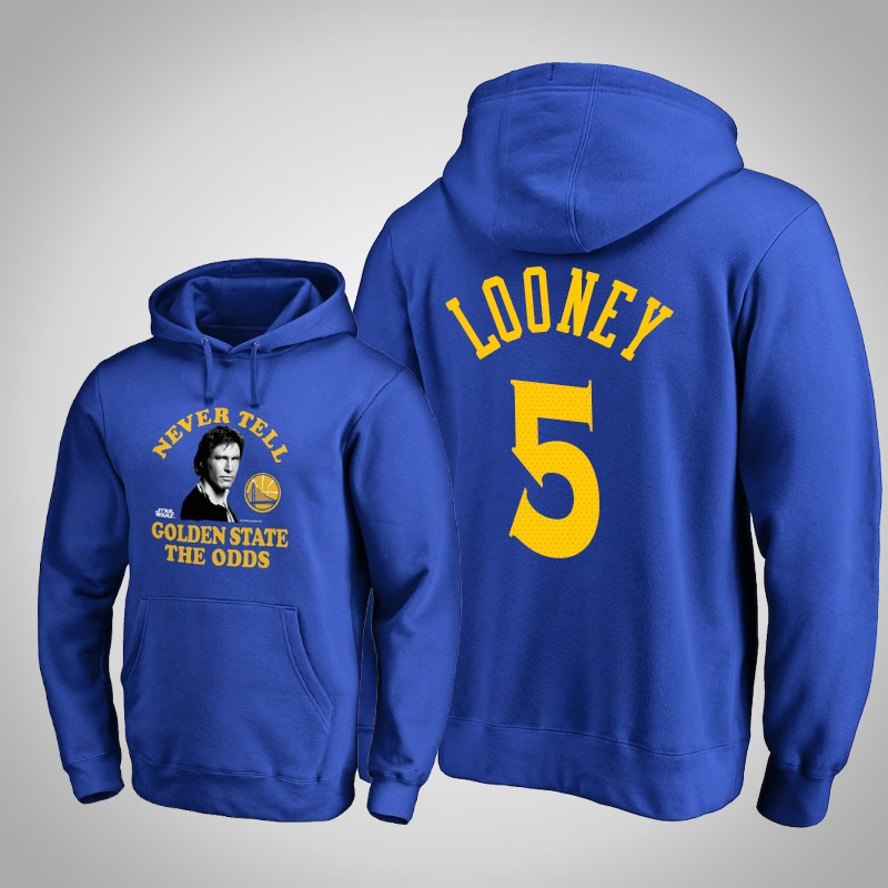 felpa Golden State Warriors Kevon Looney 5 Guerre stellari reale uomo