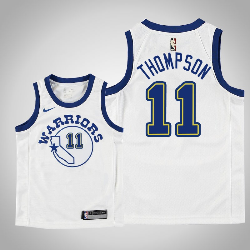 canotta Golden State Warriors Klay Thompson Hardwood classici bianca bambino