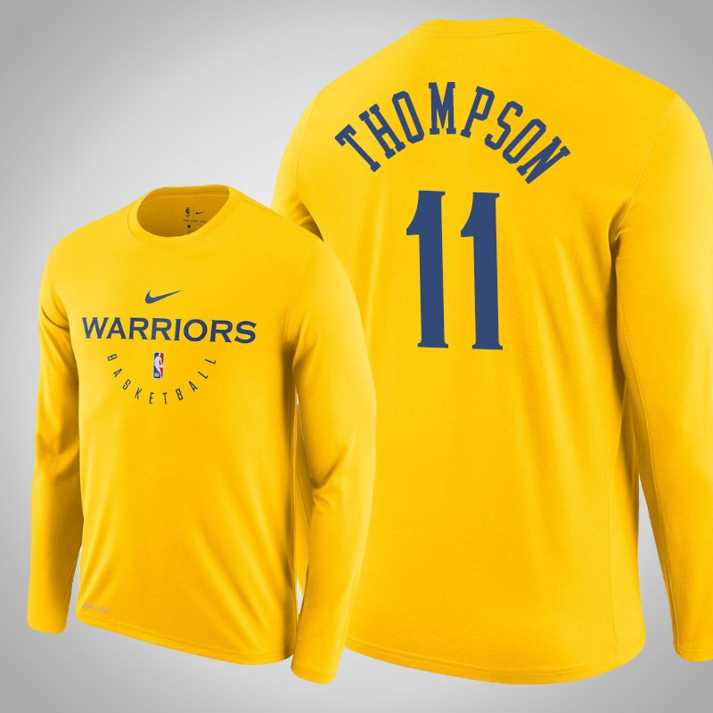 maglietta Golden State Warriors 2018-19 Klay Thompson 11 Oro uomo