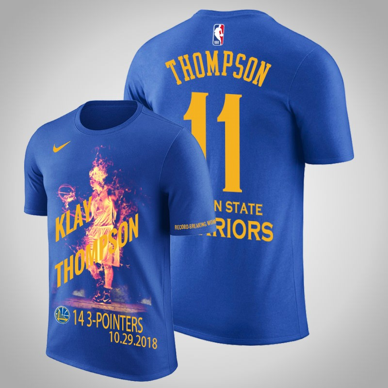 maglietta Golden State Warriors Klay Thompson 11 Quattordici tre punti reale uomo