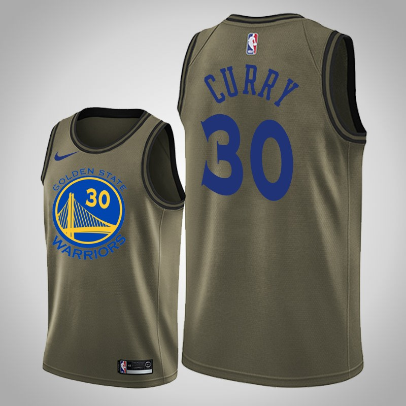 Maglie Golden State Warriors 2018-19 Stephen curry camo oliva uomo