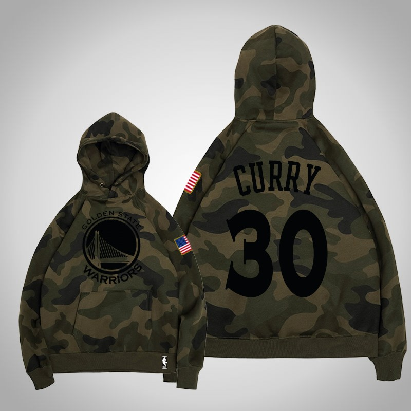 felpa Golden State Warriors 2019-2020 Stephen curry 30 camuffare oliva uomo