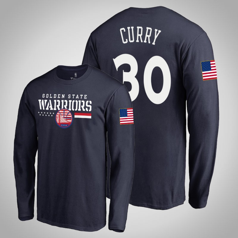 maglietta Golden State Warriors 2019-20 Stephen curry cerchi per truppe Marina Militare uomo