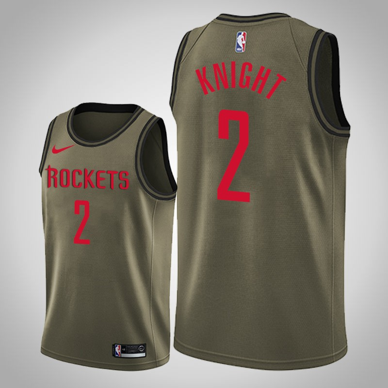 Maglie Houston Rockets 2018-19 brandon Knight 2 camo oliva uomo
