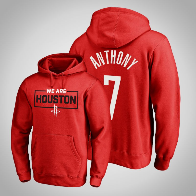 felpa Houston Rockets 2019-2020 carmelo anthony 7 Iconic rosso uomo