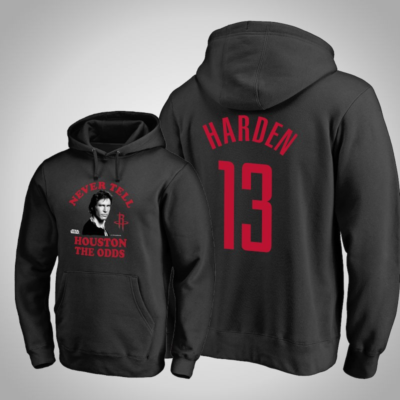 felpa Houston Rockets James Harden 13 Guerre stellari nero uomo