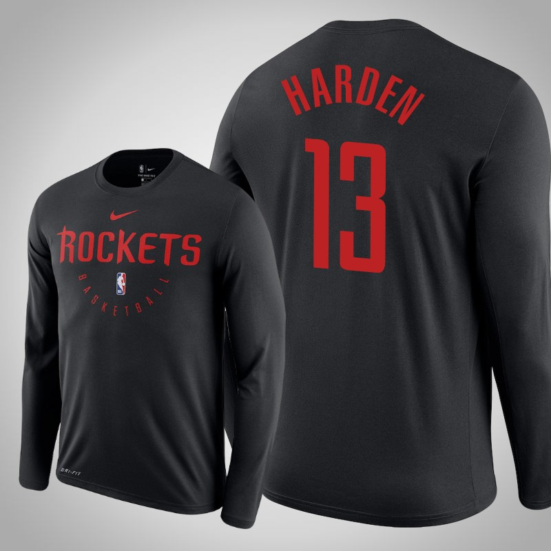 maglietta Houston Rockets 2018-2019 James Harden nero uomo
