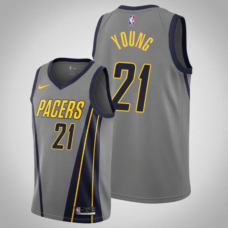 Maglie Indiana Pacers 2019-2020 Thaddeus Young città grigio uomo