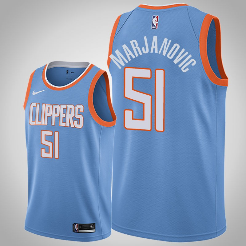 Maglie Los angeles clippers 2018-19 boban Marjanovic 51 città blu uomo