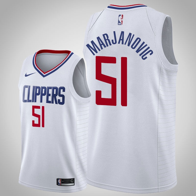 canotta Los angeles clippers 2018-19 boban Marjanovic 51 associazione bianca uomo