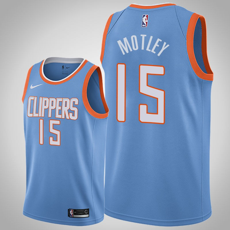 Maglie Los angeles clippers 2019-2020 Johnathan Motley città blu uomo