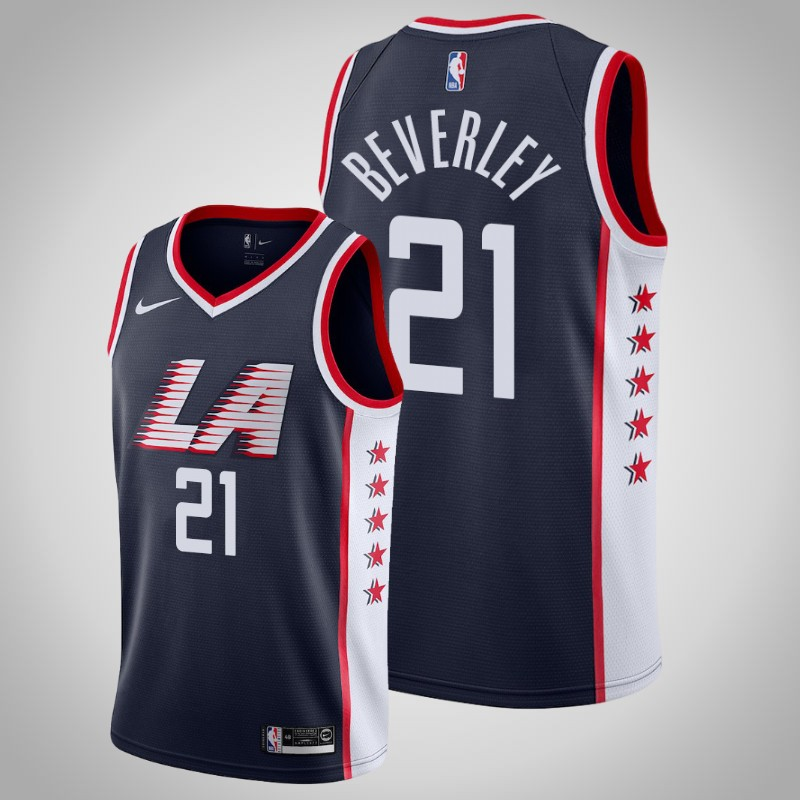 Maglie Los angeles clippers 2018-19 Patrick beverley 21 città Marina Militare uomo