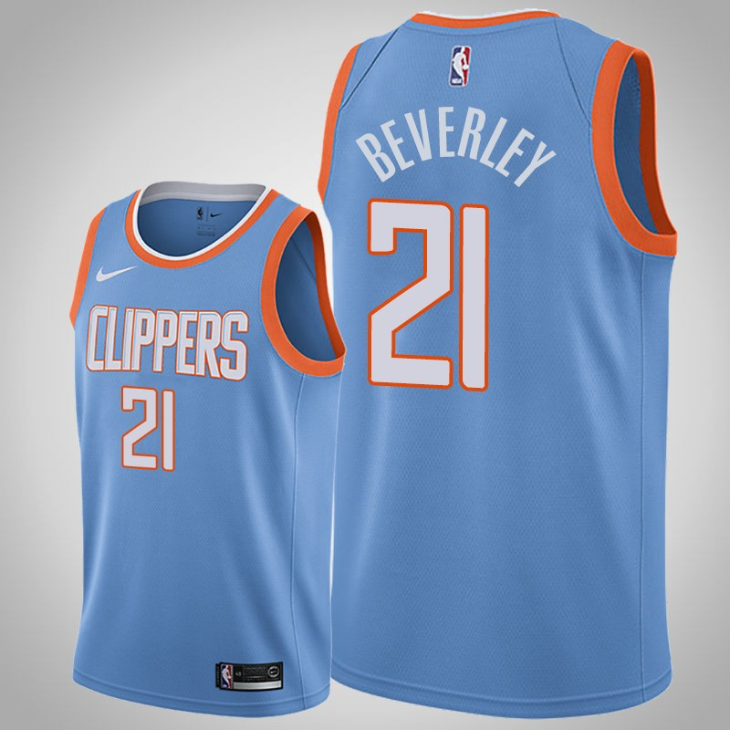 Maglie Los angeles clippers 2018-2019 Patrick beverley 21 città blu uomo