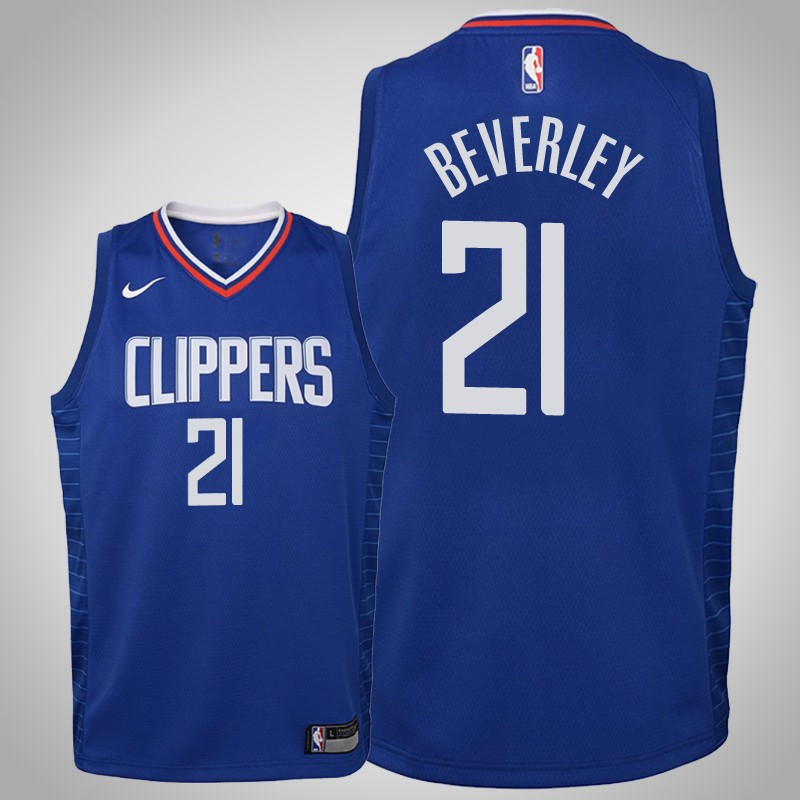 maglia Los angeles clippers 2019-20 Patrick beverley 21 Icona blu bambino