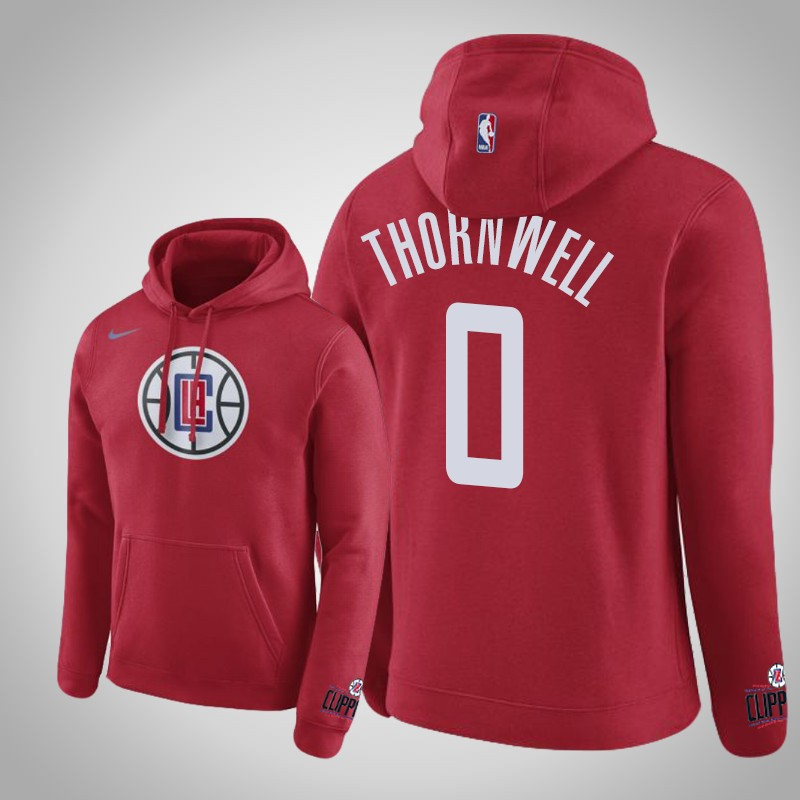 felpa Los angeles clippers 2018-19 Sindarius Thornwell 0 club rosso uomo