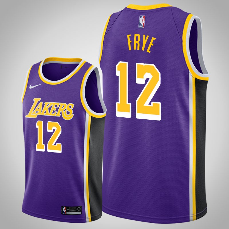 Maglie Los angeles Lakers 2018-2019 channing Frye 12 dichiarazione viola uomo