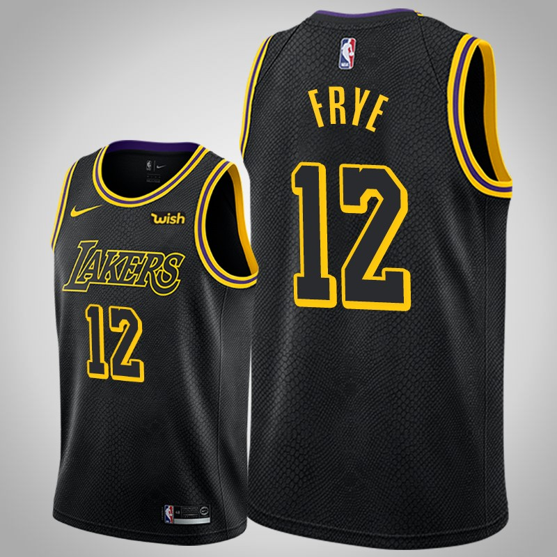 Maglie Los angeles Lakers 2019-2020 channing Frye 12 città nero uomo