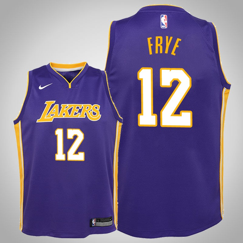 Maglie Los angeles Lakers 2019-20 channing Frye 12 dichiarazione viola bambino