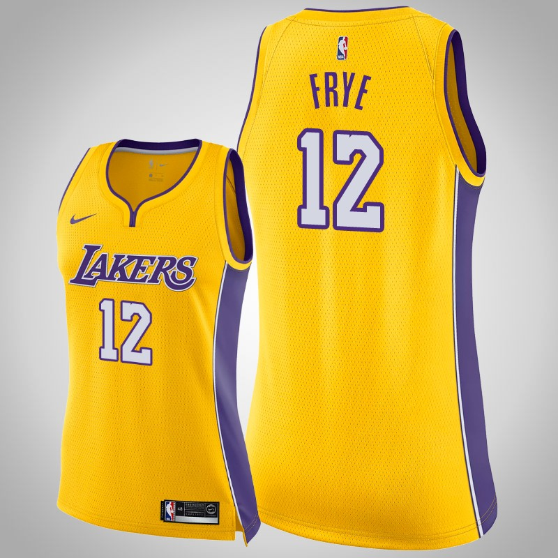 maglia Los angeles Lakers 2018-19 channing Frye 12 Icona Oro donna