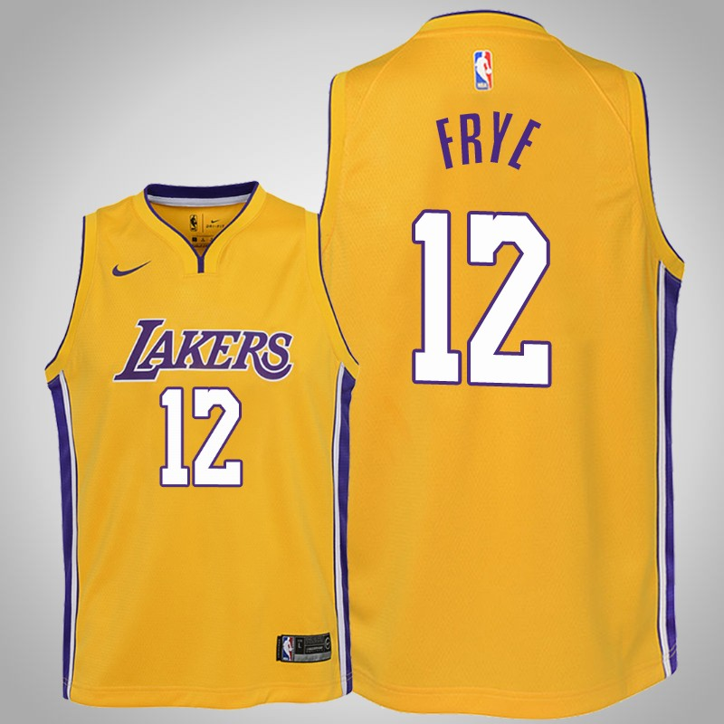 maglia Los angeles Lakers 2019-2020 channing Frye 12 Icona Oro bambino