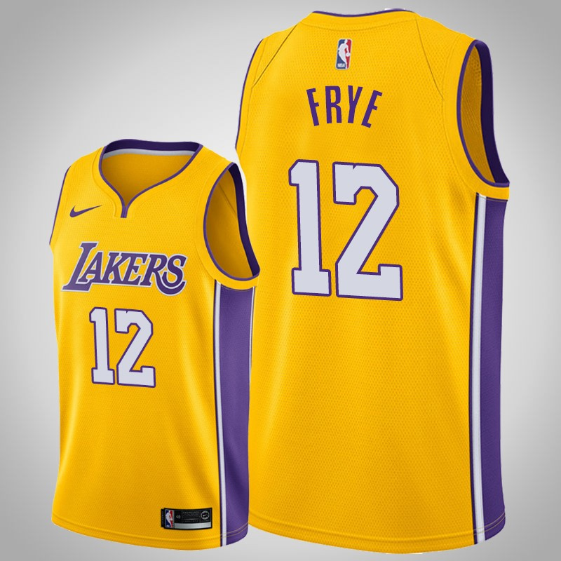 maglia Los angeles Lakers 2019-20 channing Frye 12 Icona Oro uomo