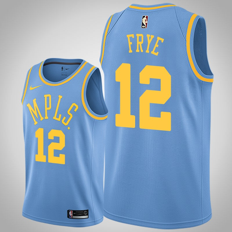 maglia Los angeles Lakers channing Frye 12 classico blu uomo