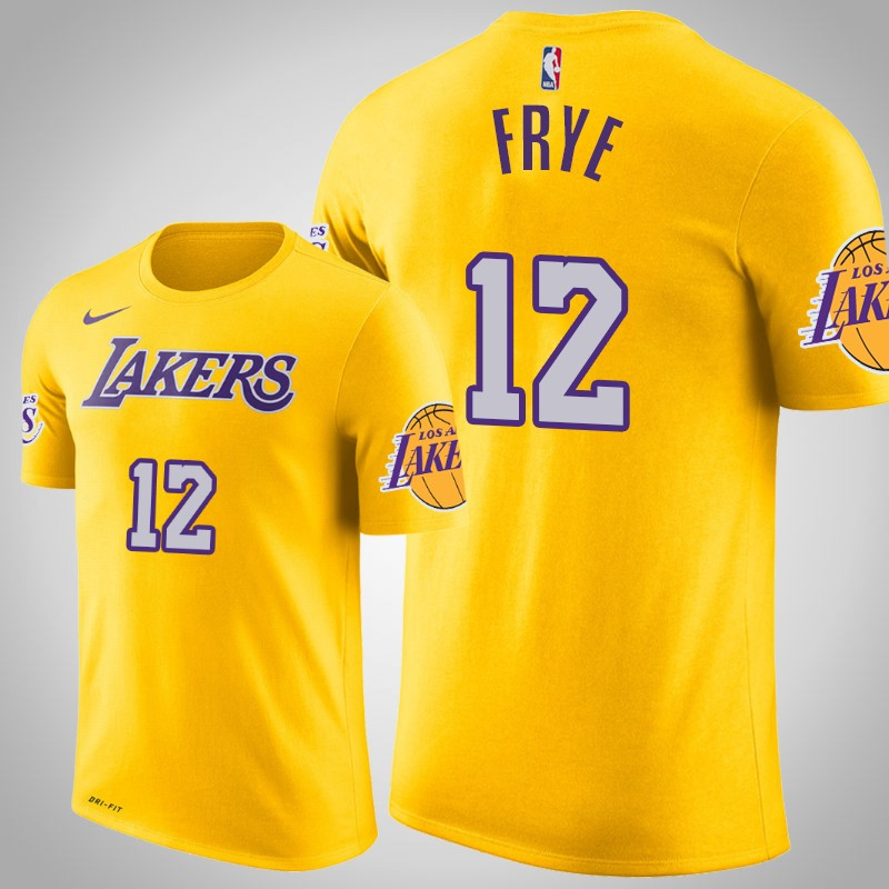 maglietta Los angeles Lakers 2018-19 channing Frye 12 Icona Giallo uomo