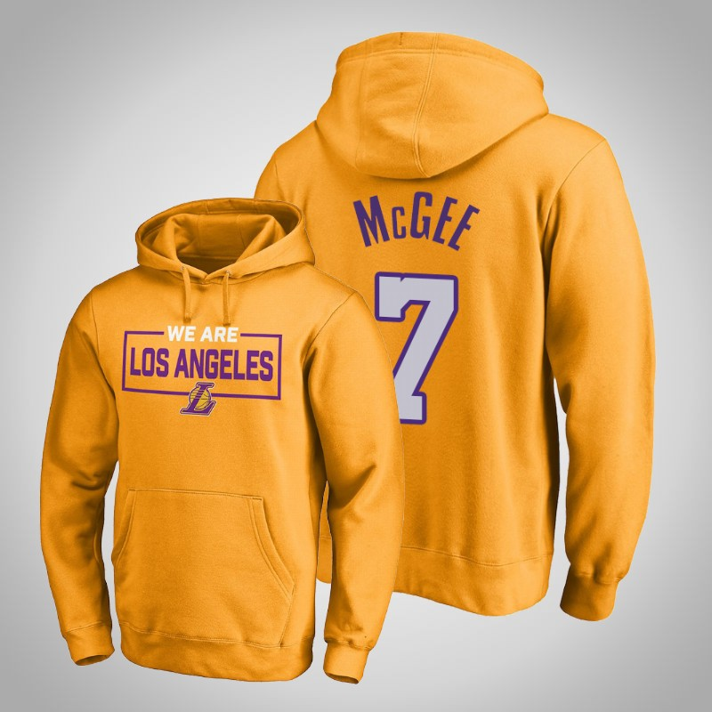 felpa Los angeles Lakers 2018-19 JaVale McGee 7 Iconic Oro uomo