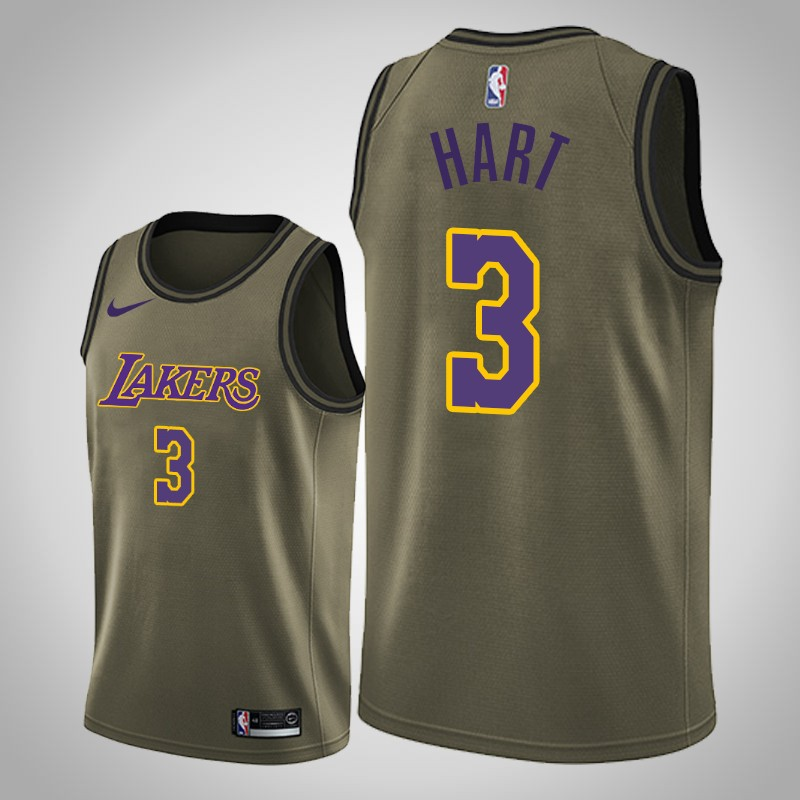 Maglie Los angeles Lakers 2019-2020 Josh Hart 3 camo oliva uomo