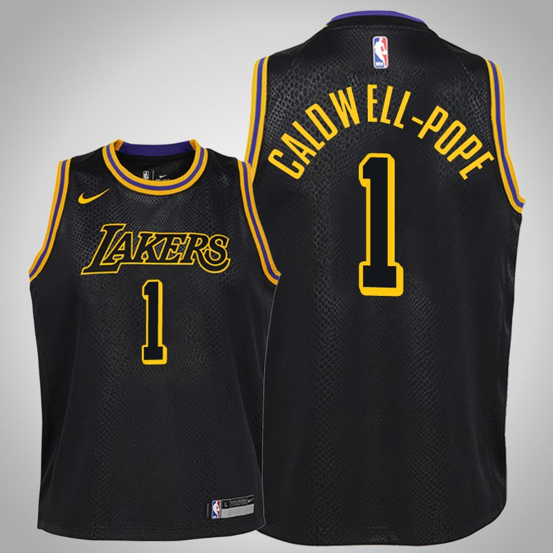 Maglie Los angeles Lakers 2018-19 Kentavious caldwell-Pope 1 città nero bambino