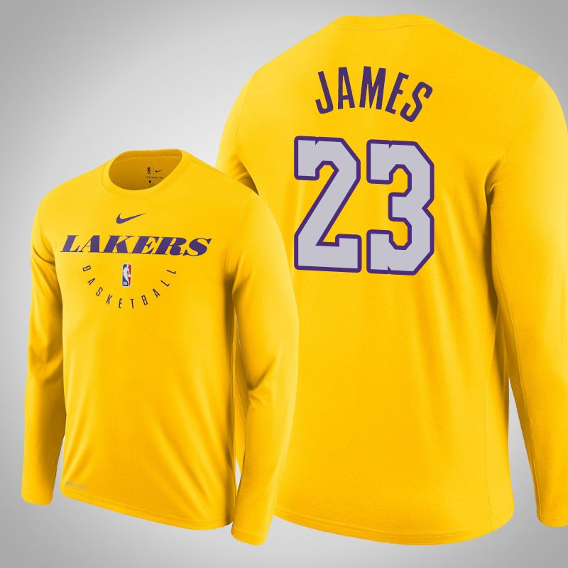 maglietta Los angeles Lakers 2019-2020 Lebron James 23 Oro uomo