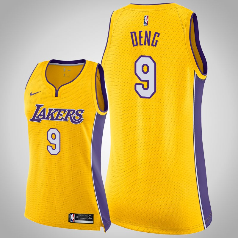 maglia Los angeles Lakers 2019-20 Luol Deng 9 Icona Oro donna
