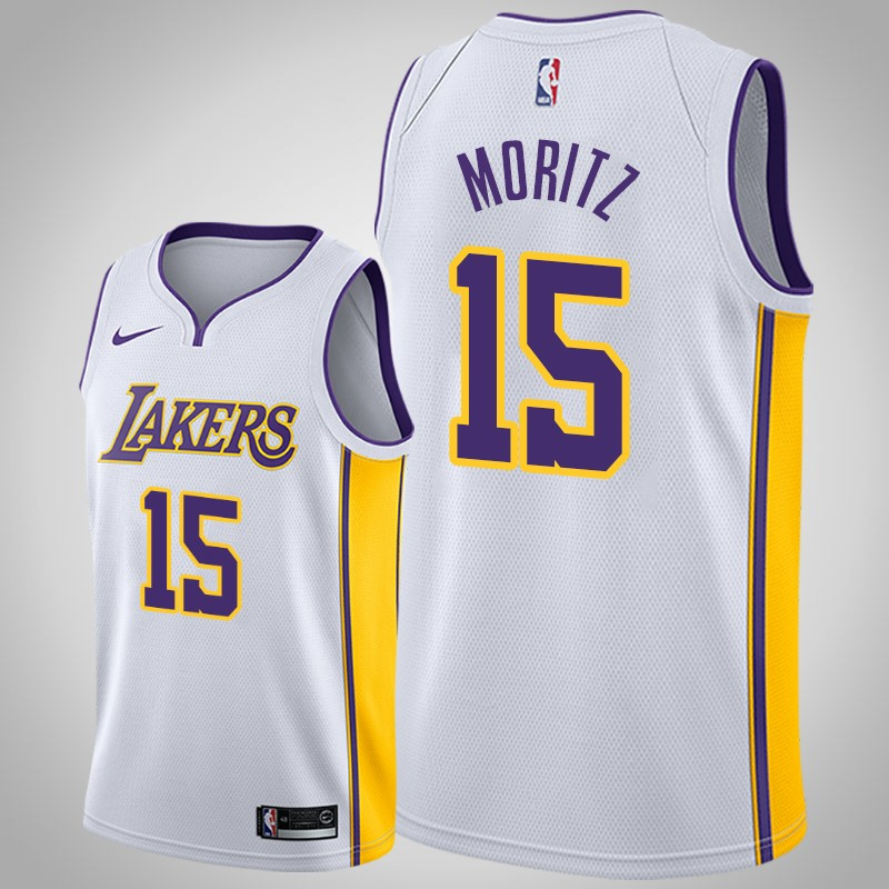 canotta Los angeles Lakers 2018-19 Wagner Moritz 15 associazione bianca uomo