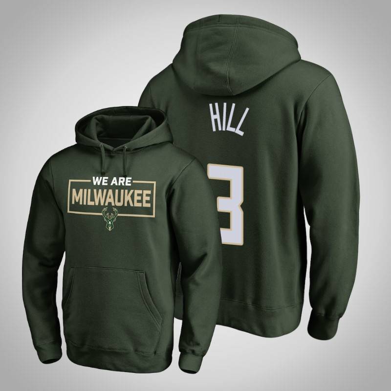 felpa Milwaukee bucks 2018-19 George Hill 3 Iconic verde uomo