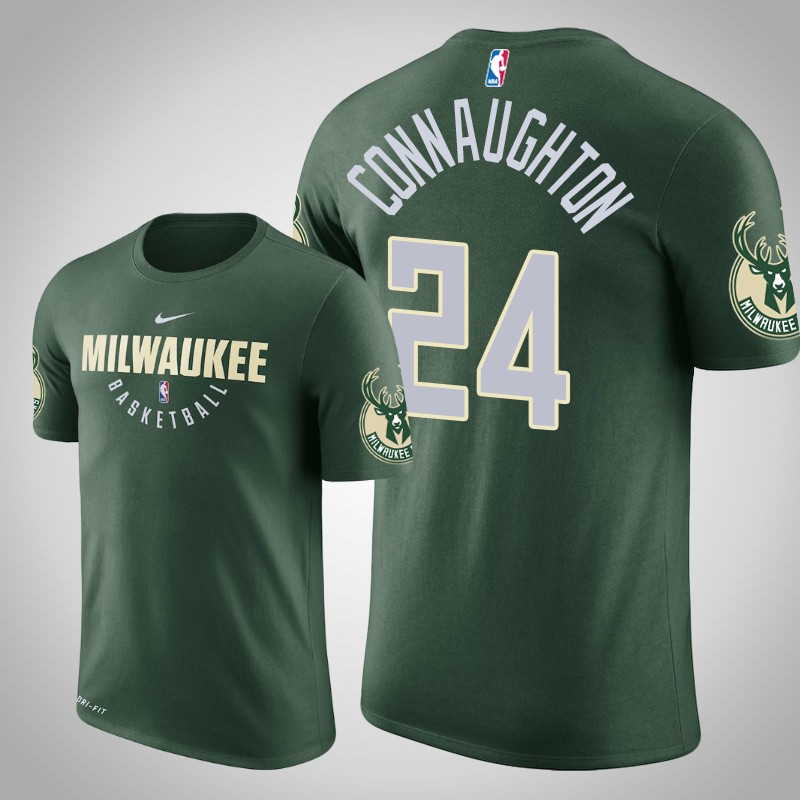 maglietta Milwaukee bucks 2018-19 Pat connaughton 24 Legenda pratica verde uomo