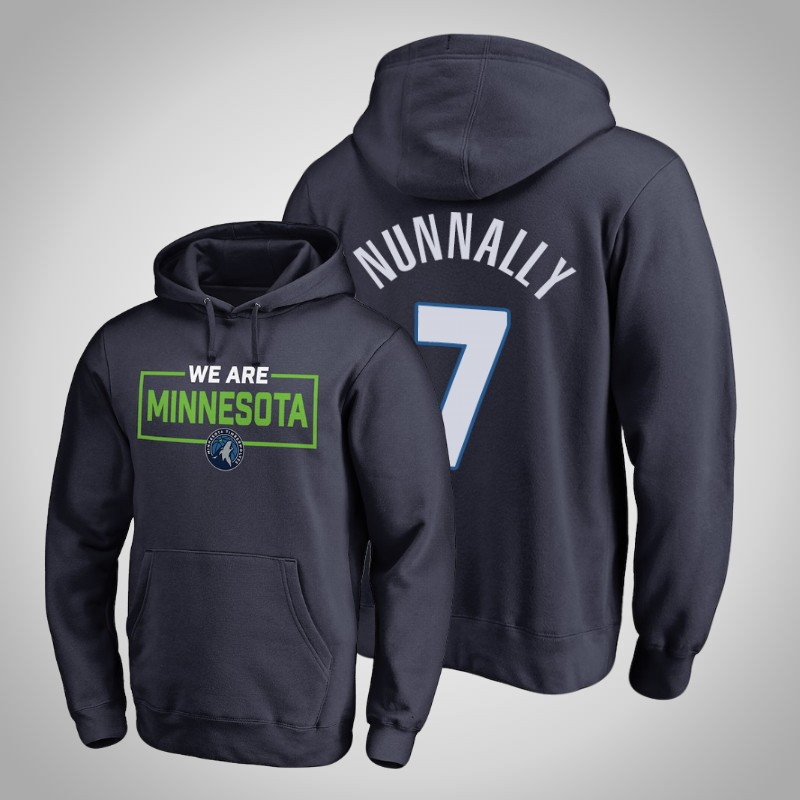 felpa Minnesota Timberwolves 2018-19 James Nunnally 7 Iconic Marina Militare uomo
