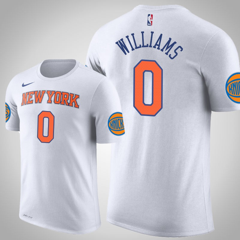 maglietta New York Knicks 2019-20 Troy Williams 0 bianca uomo